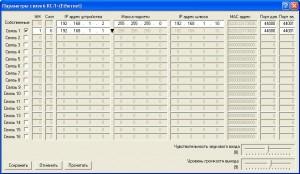 Рисунок 5. Диалоговое окно параметров связей КСЛ моноблока